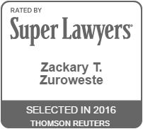 Zack Zuroweste 2016 Super Lawyers